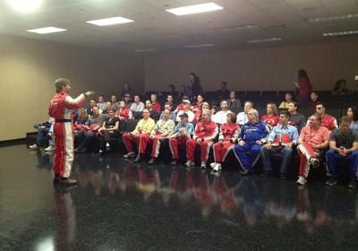 Jimmy Speaking At Andretti Racing School 1200